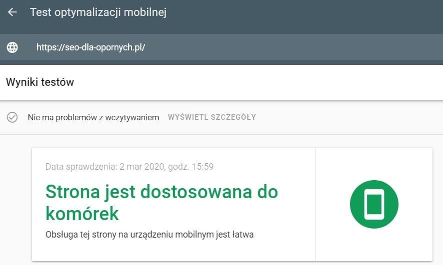 test responsywności strony internetowej